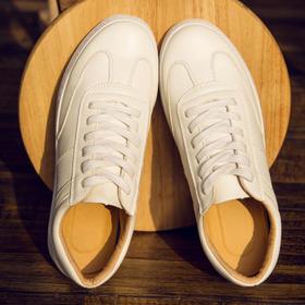 新款男鞋韩版板手工缝线透气男款 情侣款