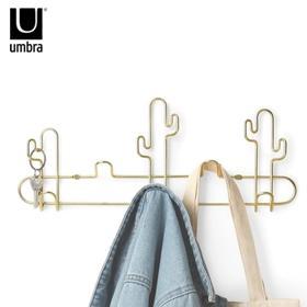 UMBRA仙人掌组合挂钩创意壁挂衣帽钩简约墙上衣帽架不锈钢挂衣架