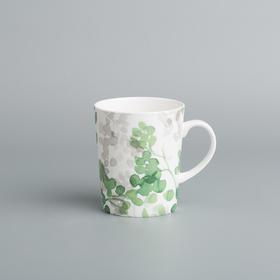 Reiki系列彩墨绿植骨瓷马克杯
