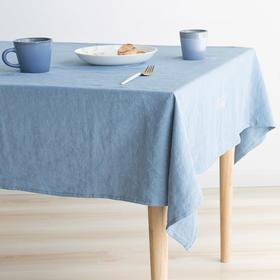 Hygge系列纯色苎麻刺绣桌布