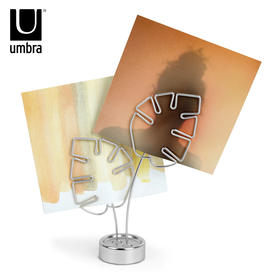 Umbra创意时尚叶子相架桌面台式照片夹办公留言夹便签夹相框摆台