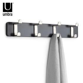 Umbra创意锁形挂钩欧式墙壁装饰衣帽钩卧室门后强力实木挂衣架