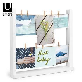 umbra创意台式组合相框 卧室客厅晾衣绳画框 桌面不规则组合相架