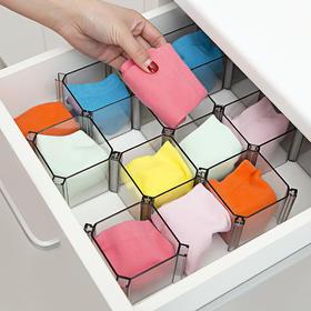 日式抽屉分隔板隔断袜子分类收纳盒分格自由组合创意桌面整理格子