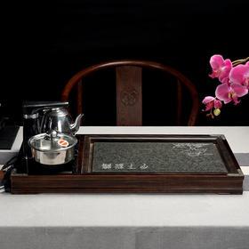 月下松鹤柯木茶盘(两种颜色)
