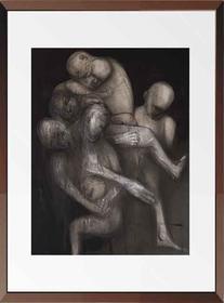 杨重光版画《囚徒》 90x70 cm