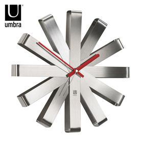 umbra丝带挂钟家庭欧式现代简约钟表客厅创意装饰装修墙面挂钟