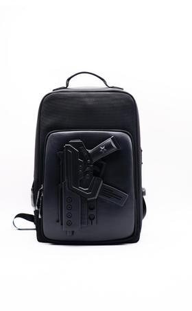 潮牌双肩包个性3D技术 设计师品牌 创意电脑包 BANU 反战-MP5