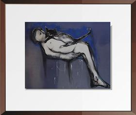 杨重光版画《今夜无眠 》70x90cm