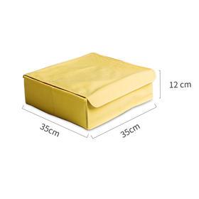 Contain系列柠檬小生折叠储物件柠檬黄内衣收纳盒