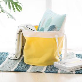 Contain系列柠檬小生折叠储物件柠檬黄圆形洗衣篮