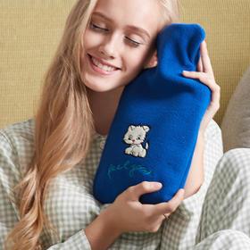 德国进口HUGO可爱卡通绒布热水袋充水暖水袋注水暖手宝防爆安全