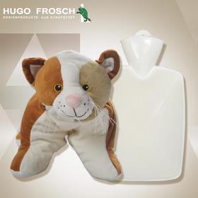德国HUGO动物外套儿童玩具热水袋冲注水暖手宝卡通靠枕抱枕暖水袋