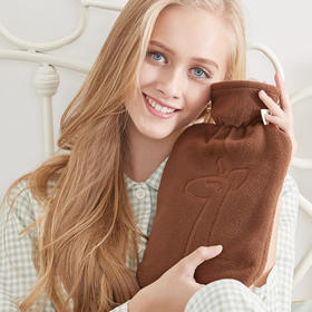 德国HUGO毛绒羊驼外套热水袋冲水注水时尚1.8L暖手宝暖水袋暖手袋