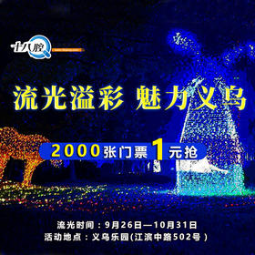 义乌乐园流光季活动门票