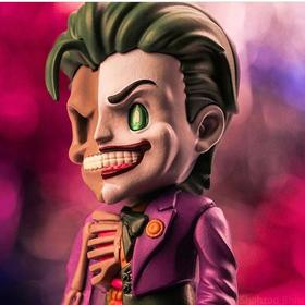 (mni款)Jason Freeny Mighty Jaxx Joker 小丑 解刨骨骼内脏公仔手办(不可拆卸组装)