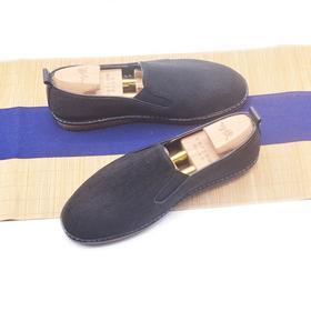 手工男鞋 轻度防水设计牛筋底休闲布鞋
