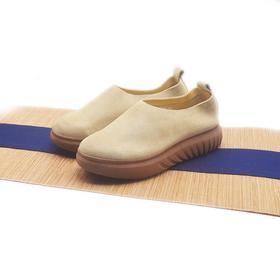 手工女鞋 极简气质增高厚底防滑单鞋