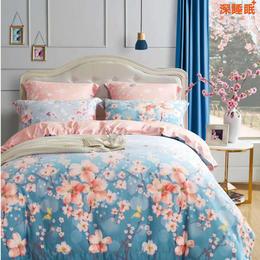 天丝磨毛床单四件套-梦紫花漾