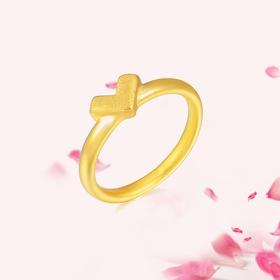 臻爱 3D足金戒指