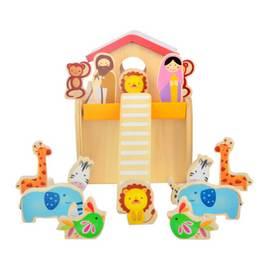 德国可来赛 儿童无害木制玩具 诺亚方舟