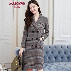 时尚经典千鸟格呢子大衣外套  XX7151
