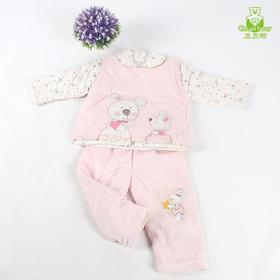 秋冬款小孩衣服三件套装婴儿童纯棉女宝宝冬装