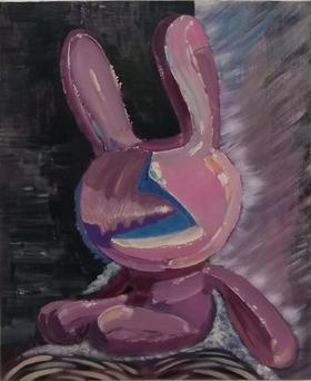 梅森作品《兔子》/  60x50cm  /  2010
