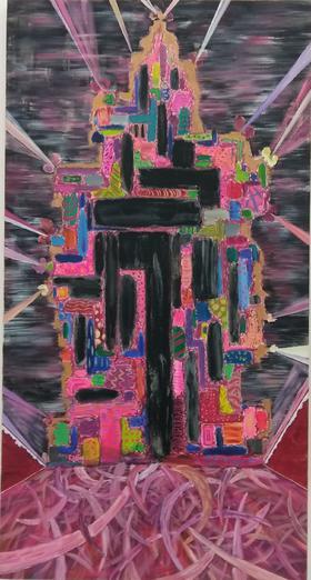 梅森作品《欲望的塔 》/ 170x90cm /  2014