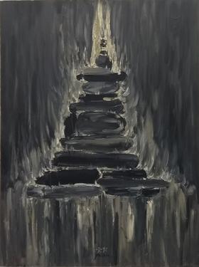 梅森作品《武火》/ 120x90cm / 2011