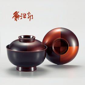 【市松白檀】手描莳绘 粂治郎 日本越前漆器 汤碗5只装