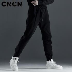 CNCN男装 秋季青年束脚裤 抽绳修身休闲裤CNCK39073