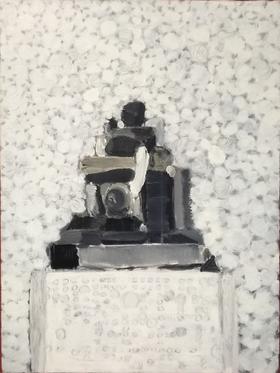 梅森作品《白色圆点的背景 静物之二》/  80x60cm  / 2011