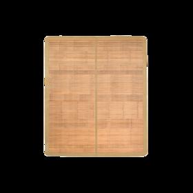 天然宽篾头层青碳化竹凉席