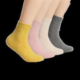 女式美丽诺羊毛混纺中筒袜