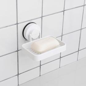 单层镂空吸盘肥皂架