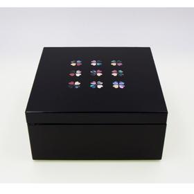 【螺钿匣子】粂治郎日本越前漆器 螺钿镶嵌小匣子储物盒