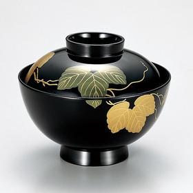 【常春藤汤碗】粂治郎日本越前漆器 汤碗吸物碗5只装