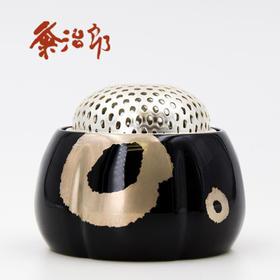【和香炉】粂治郎日本越前漆器 金银粉手描莳绘香炉