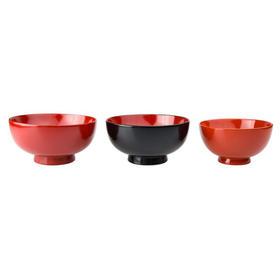 【家族漆碗】粂治郎 日本越前漆器 夫妇碗童碗三件套