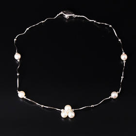 【IRIS-SPIRA】日本akoya巴洛克珍珠纯银项链 无调色阿古屋珍珠