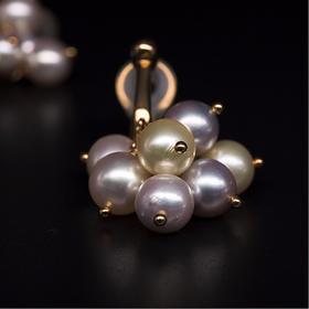 【IRIS-SPIRA】日本akoya珍珠多色耳钉/耳夹 无调色阿古屋珍珠