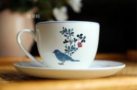 A级真骨瓷 鸟与花 咖啡杯 茶杯套组 轰趴家宴下午茶 满包邮