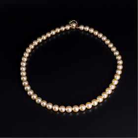 【IRIS-SPIRA】日本akoya珍珠项链 罕见无调色阿古屋珍珠天然金珠