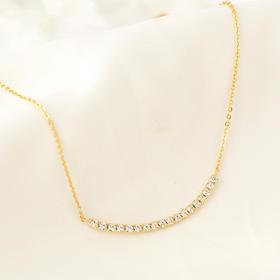十八石镶钻项链