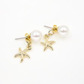 海星珍珠耳钉