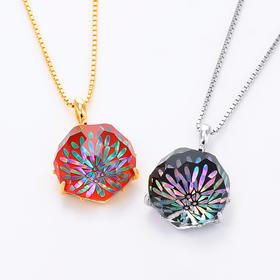 【花火】水晶螺钿纯银项链