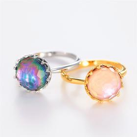 【光色变迁的天空】水晶螺钿戒指