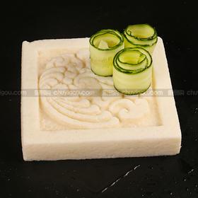 创意盘模  【方形盘模】可以制作盐焗盘、鱼冻、巧克力盘、冰砖盘、即时盘子又是美食!