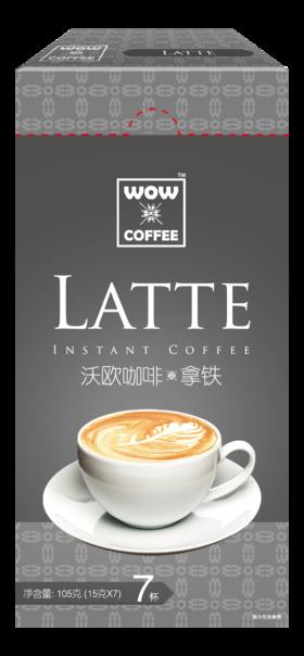 沃欧咖啡 经典拿铁即溶咖啡 15g*7条